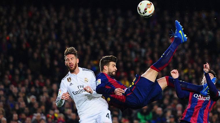 Gerard Piqué y Sergio Ramos se citan en el Madrid-Barça