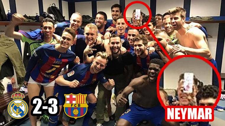 Neymar Jr, presente en la eufórica celebración del Barça