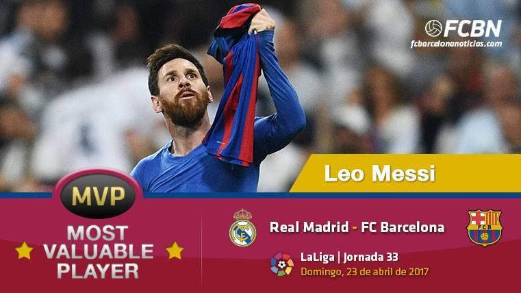 "Leo Messi, el ""MVP"" del FC Barcelona ante el Real Madrid"