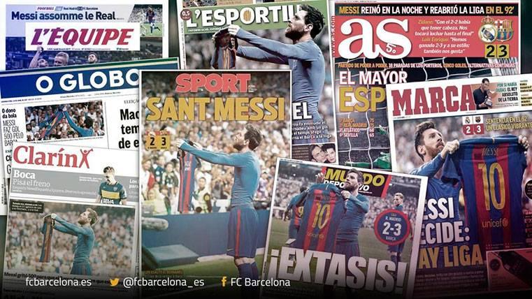 Una vez más el Mundo se postró ante Messi tras un Clásico