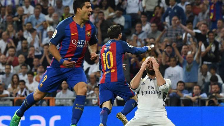 """El """"doblete"""" de Messi al Madrid le pone más líder de la Bota de Oro"""