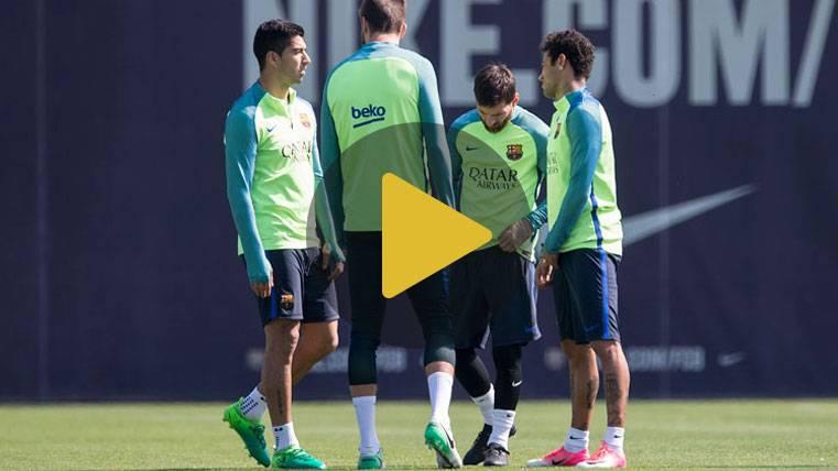 ¡Susto de Luis Suárez en el entreno del FC Barcelona!