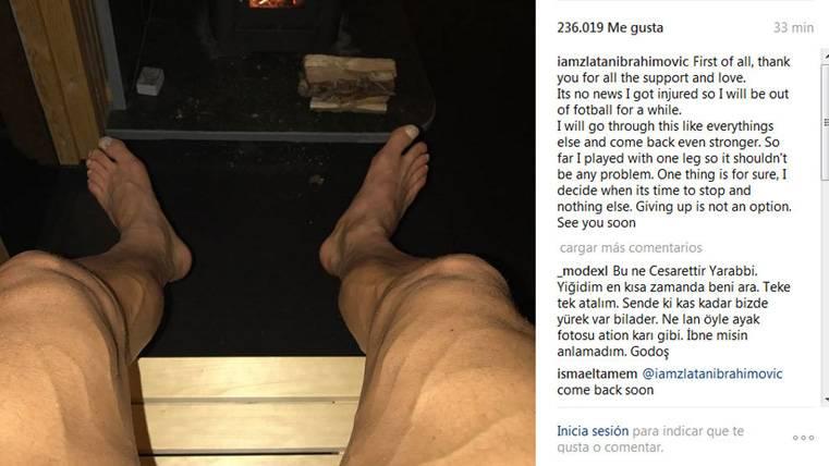 Mensaje de Ibrahimovic para quienes hablan de su retirada