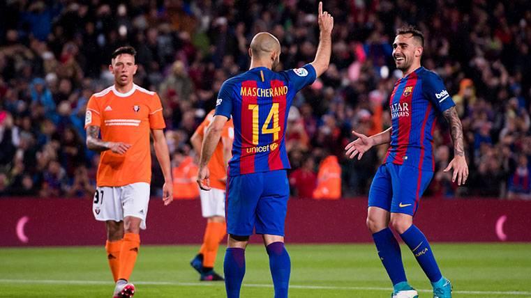 ¡Javier Mascherano anotó su primer gol con el Barça!