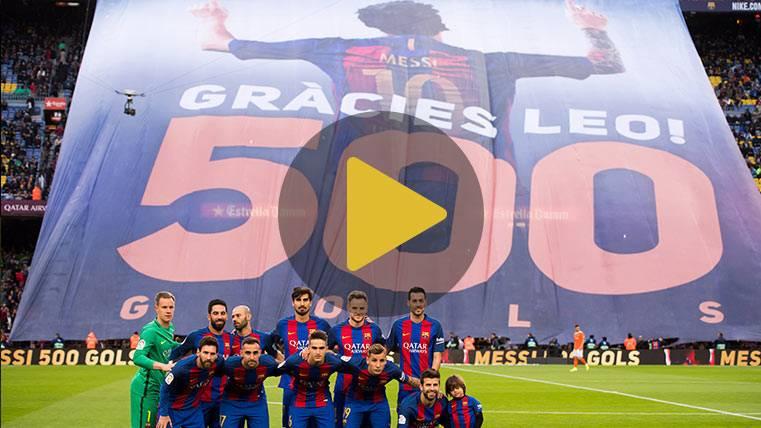 Así fue el espectacular tifo a Messi antes del Barça-Osasuna