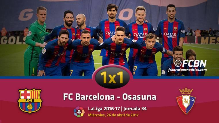 El 1x1 del FC Barcelona frente al Osasuna (Liga J34)
