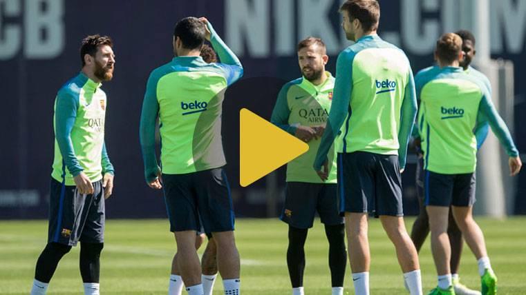 """El Barça ya piensa en el """"derbi"""" de Liga contra el Espanyol"""