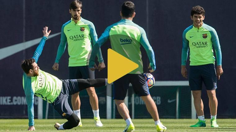 Mala noticia con Iniesta en el entrenamiento del Barcelona