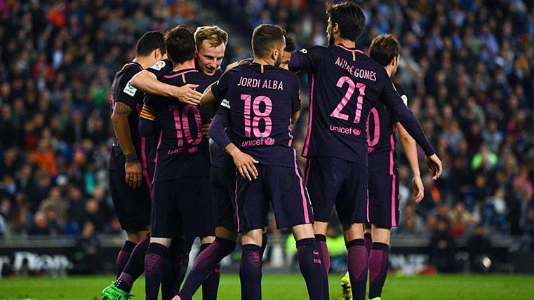 Rakitic sentenció al Espanyol tras un jugadón de Leo Messi