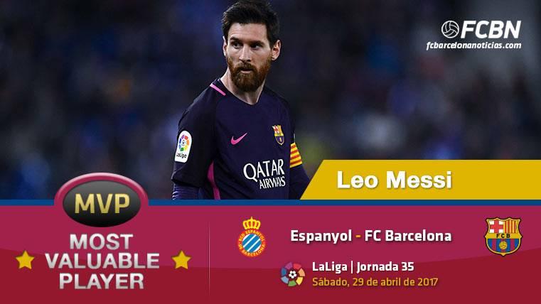 """Leo Messi, el """"MVP"""" del FC Barcelona ante el Espanyol"""