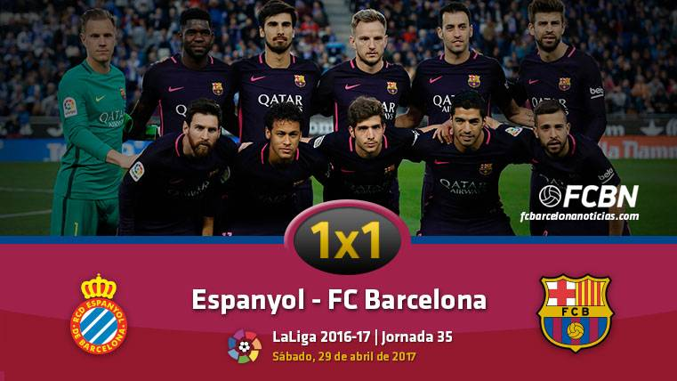 El 1x1 del FC Barcelona frente al Espanyol (Liga J35)