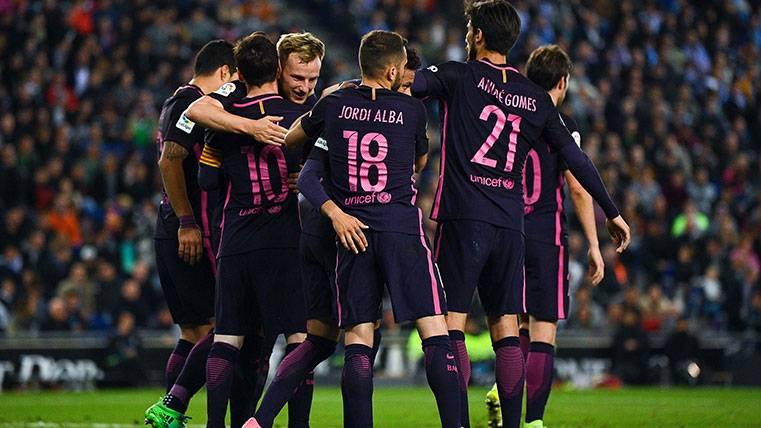 Las celebraciones del Barça tras dar un paso gigante en LaLiga