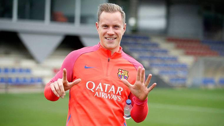 Ter Stegen celebró años ayudando al Barça a ser líder