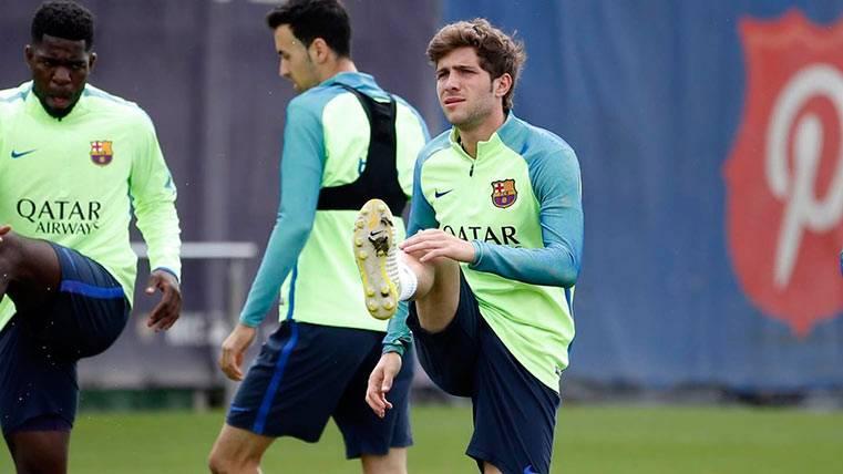El Barça confirma que Sergi Roberto estará diez días de baja