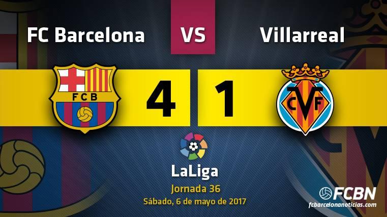 """La """"MSN"""", vendaval de un Barça imparable para el Villarreal"""