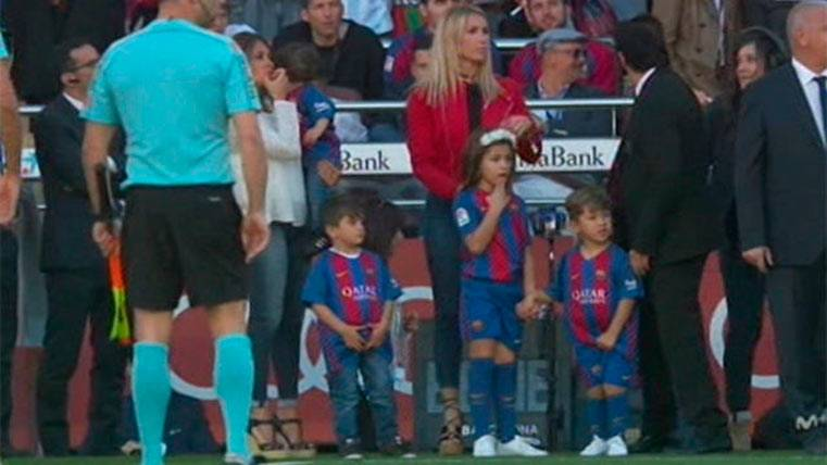 Así se lo pasaron los hijos de Messi y Suárez antes del duelo