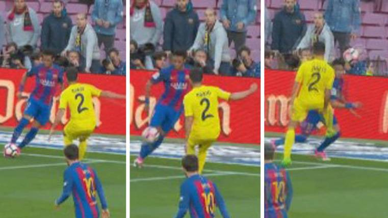 """Magistral """"picadita"""" de Neymar para enamorar al Camp Nou"""