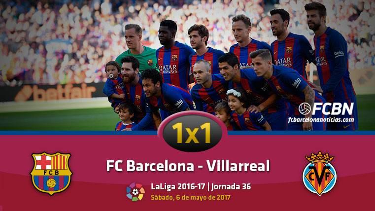 El 1x1 del FC Barcelona frente al Villarreal (Liga J36)