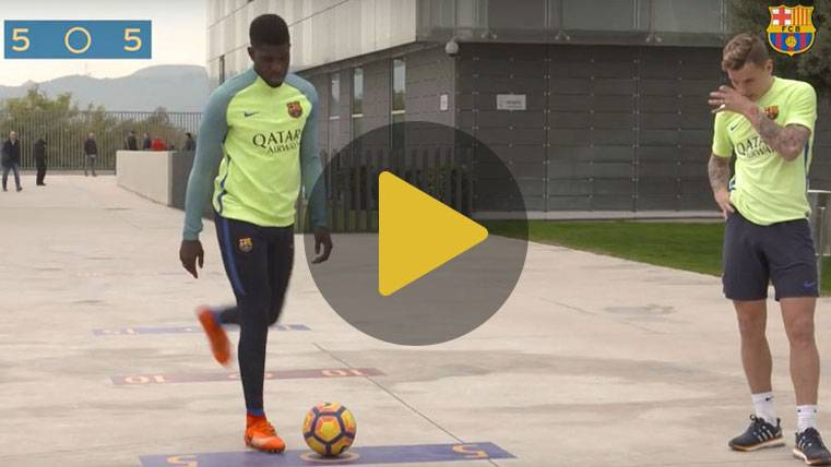 "Samuel Umtiti, infalible ganador del ""bottle-goal challenge"""