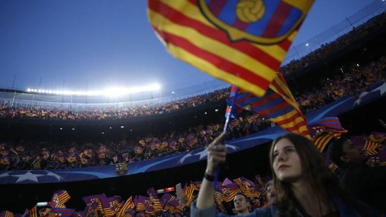 El Camp Nou estalló contra Tebas en el FC Barcelona-Eibar