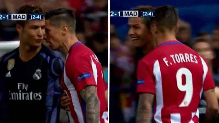Cristiano provocó a Torres y huyó cuando se le encaraba