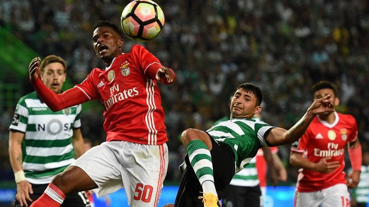 Nelson Semedo, durante un partido contra el Sporting de Portugal