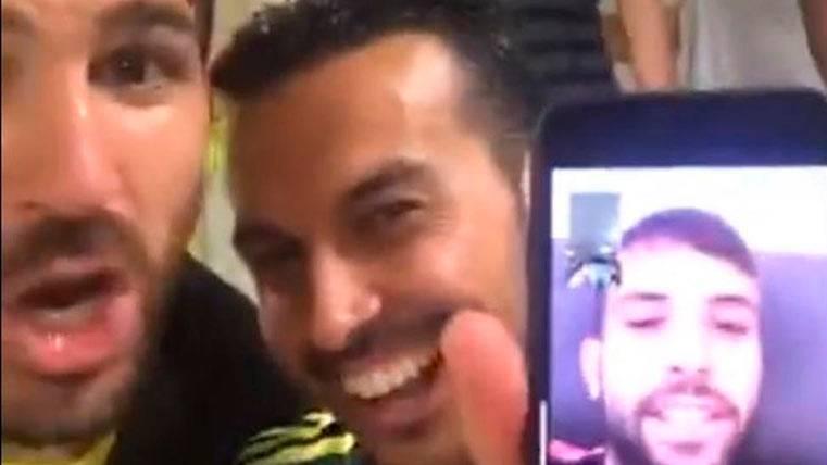 """Cesc y Pedro """"metieron"""" a Jordi Alba en la fiesta del Chelsea"""