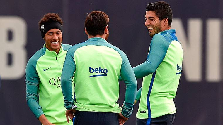 La MSN del FC Barcelona, desgranada por Luis Suárez