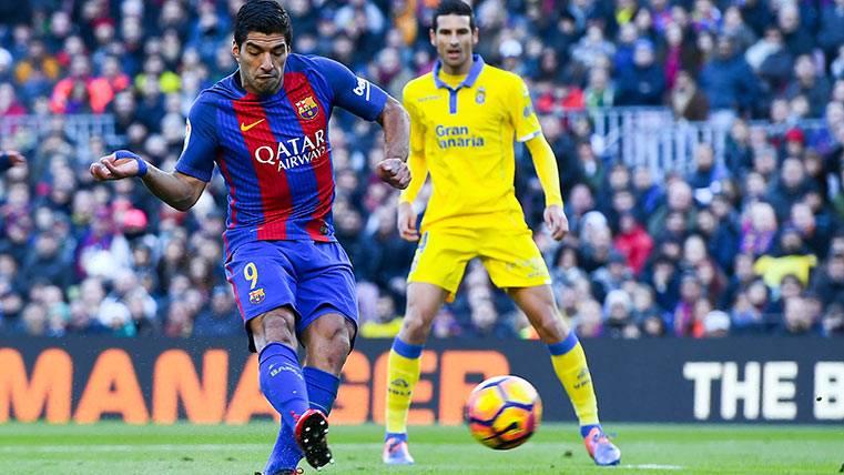 Luis Suárez mete miedo a la UD Las Palmas con sus números