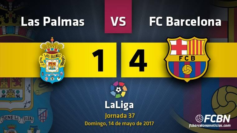 El FC Barcelona venció por 1-4 a Las Palmas en Gran Canaria