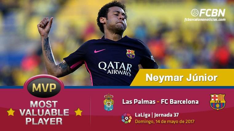 """Neymar Júnior, el """"MVP"""" del FC Barcelona ante Las Palmas"""