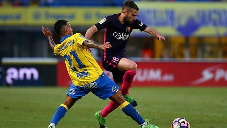 Jordi Alba cuajó otro gran partido con el Barça en Canarias