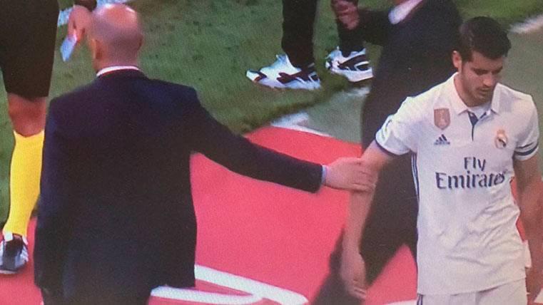 Álvaro Morata, hasta las narices de Zidane: le retiró el saludo