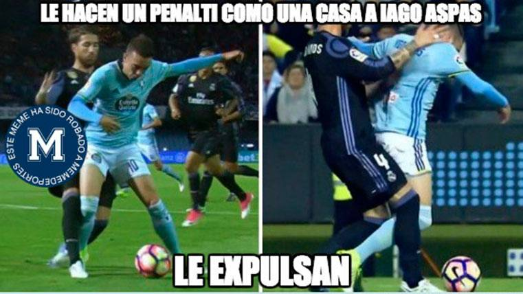 El meme que retrata el robo arbitral del Celta-Madrid