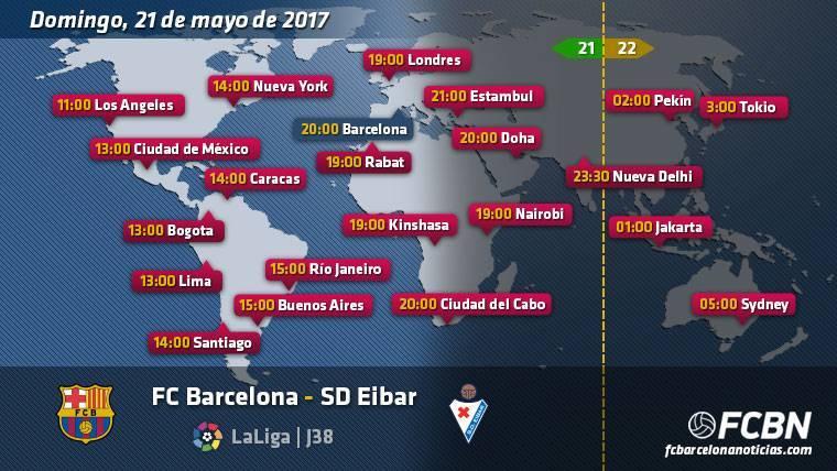 Horarios y TV del partido FC Barcelona vs Eibar