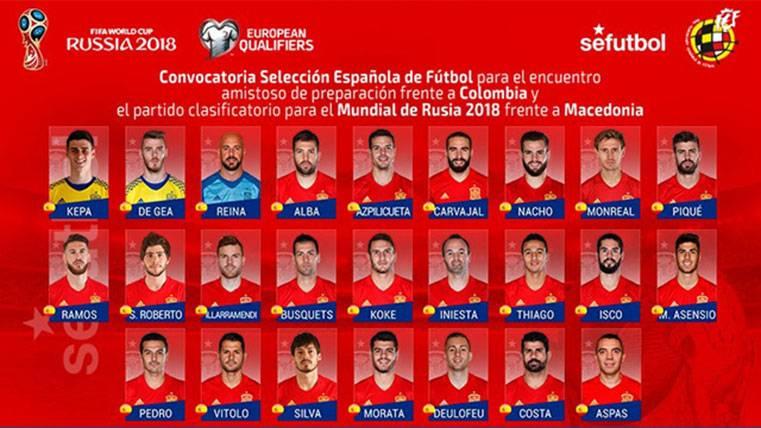 """Cinco jugadores del Barça en la convocatoria de """"La Roja"""""""