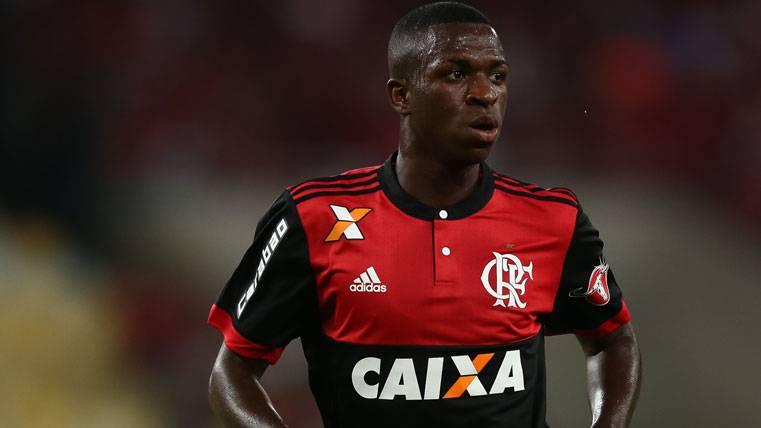 Vinicius Jr, durante un partido con el Flamengo esta temporada