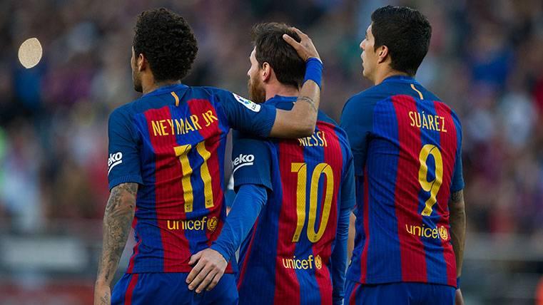 Neymar Júnior, Leo Messi y Luis Suárez, el azote del Eibar