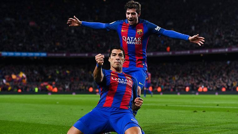 Luis Suárez y Sergi Roberto, ante su último partido del curso