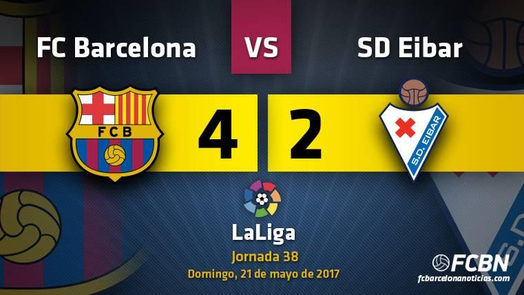 El Barcelona cierra la Liga con una remontada sin premio
