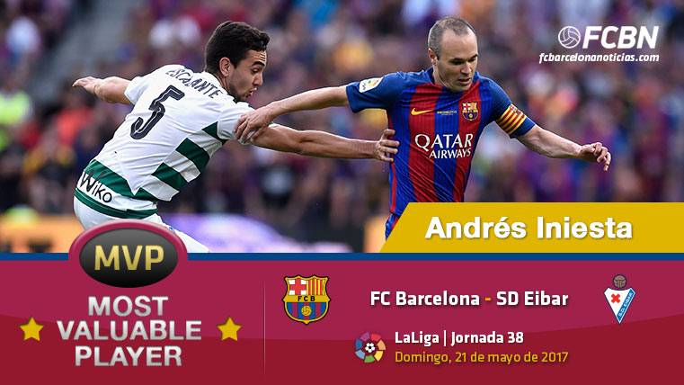 "Andrés Iniesta, el ""MVP"" del FC Barcelona ante el Eibar"