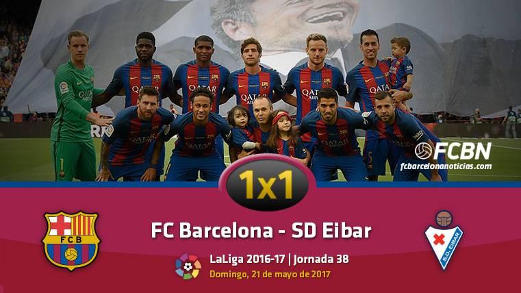 Este es el 1x1 del FC Barcelona frente a la SD Eibar (Liga J38)