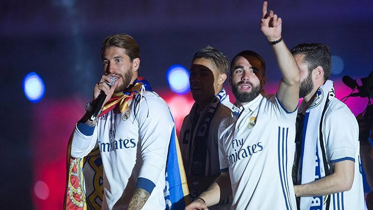 """Sergio Ramos, el que """"no se acordaba"""" de otros al celebrar"""