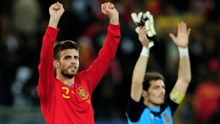 ¿Imitó Casillas a Piqué para celebrar LaLiga del Real Madrid?