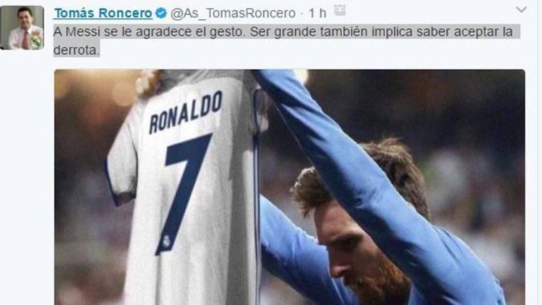 """POLÉMICA: ¡Provocativos """"tweets"""" de Roncero sobre Messi!"""