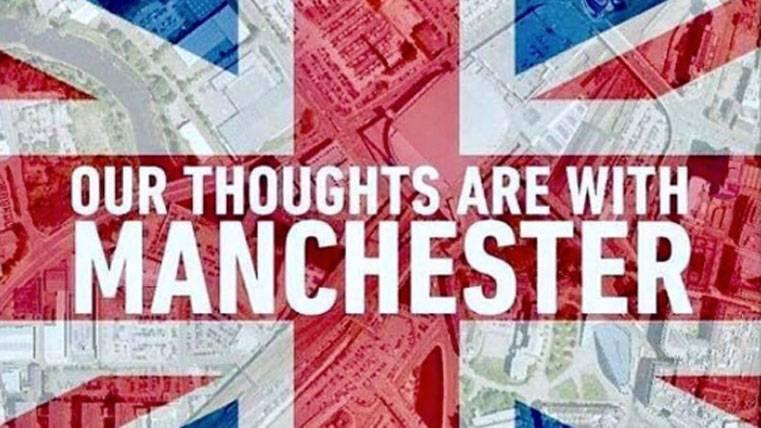 Denis Suárez, consternado por el atentado en Manchester