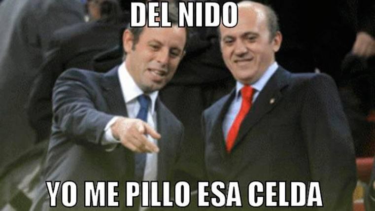 """El """"meme"""" que junta a Sandro Rosell y Del Nido en la cárcel"""