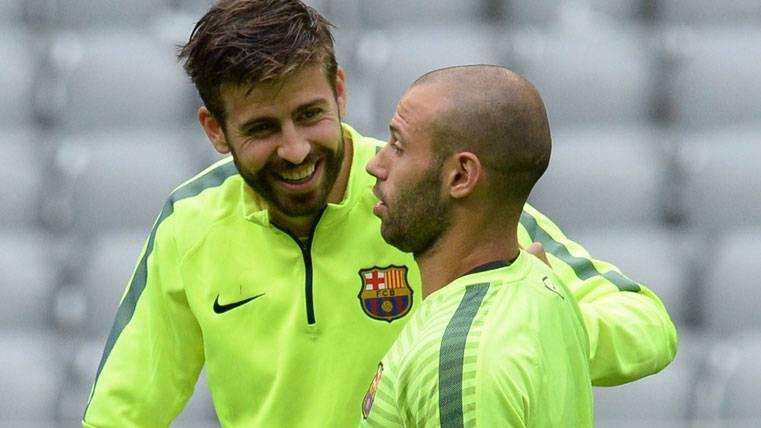 Mascherano y Piqué ya están a tope y llegarán a la final de Copa