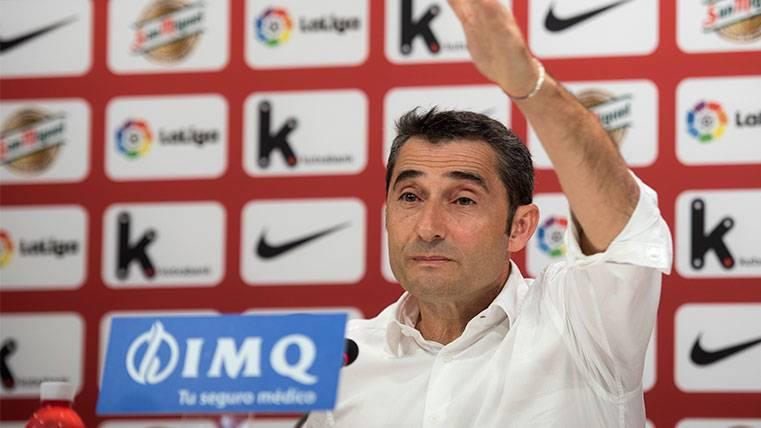 Ernesto Valverde se 'moja' para la final de la Copa del Rey