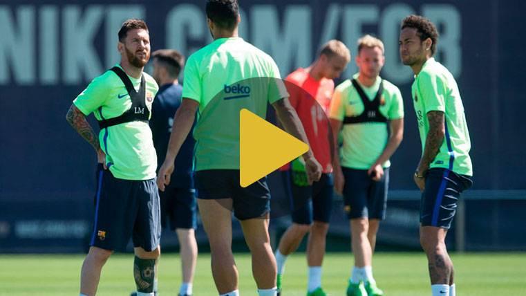 El Barça sigue preparando la final de Copa con una novedad